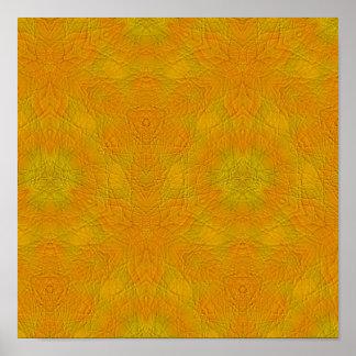 modelo abstracto anaranjado póster