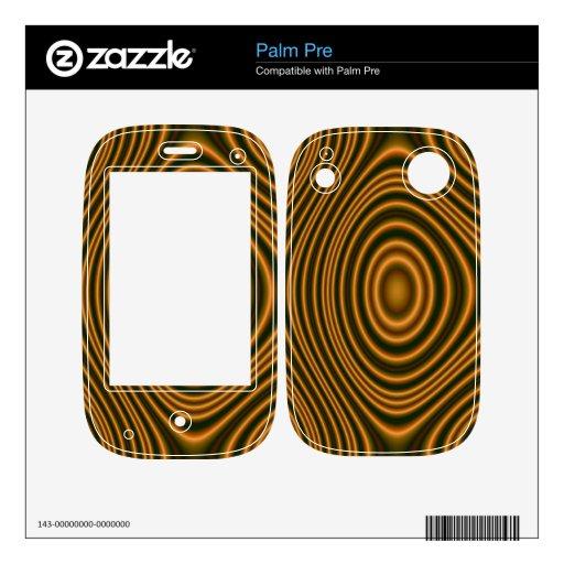 modelo abstracto anaranjado skins para palm pre