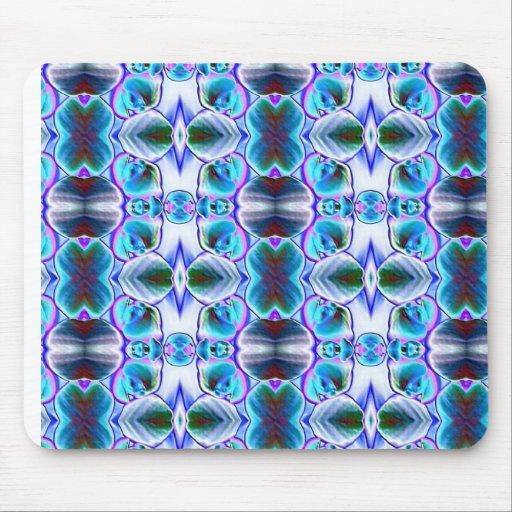 Modelo abstracto azul alfombrilla de raton