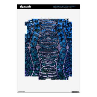 Modelo abstracto azul brillante de Bling iPad 3 Skin
