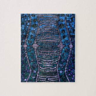 Modelo abstracto azul brillante de Bling Puzzle