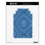 modelo abstracto azul calcomanía para el kindle 3