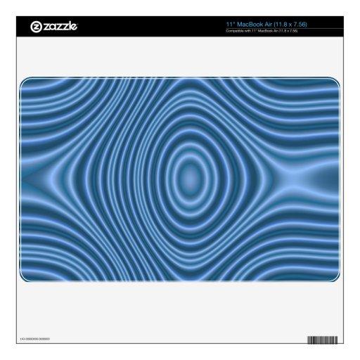 modelo abstracto azul calcomanía para MacBook