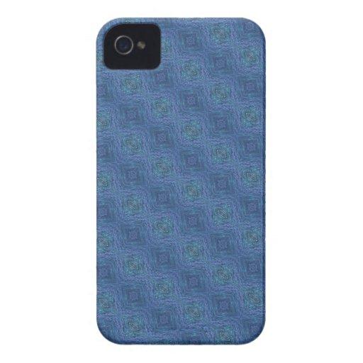 Modelo abstracto azul Case-Mate iPhone 4 funda
