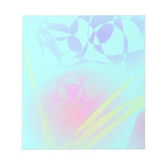 Modelo abstracto azul de la aguamarina brillante libretas para notas