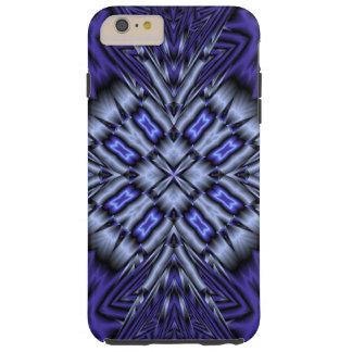 Modelo abstracto azul funda para iPhone 6 plus tough