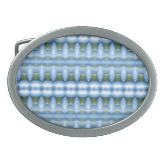 Modelo abstracto azul hebilla de cinturon oval