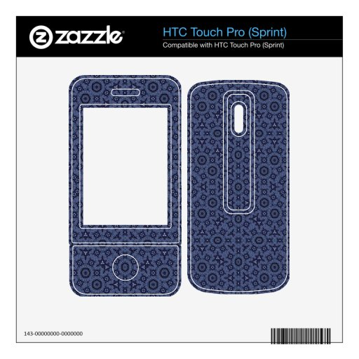 Modelo abstracto azul HTC touch pro skin