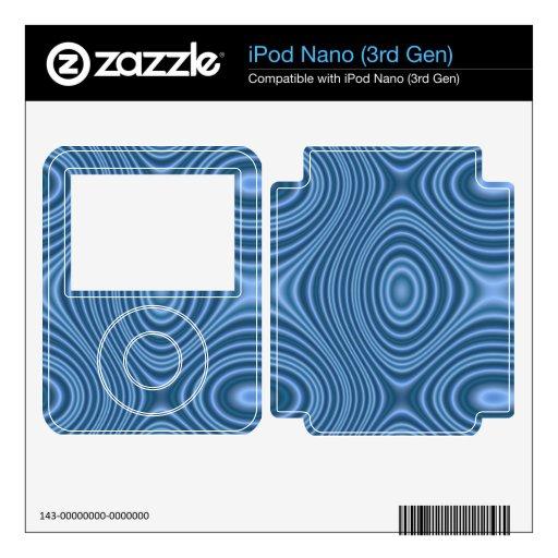 modelo abstracto azul iPod nano 3G skin