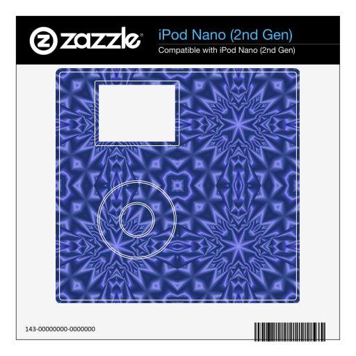 Modelo abstracto azul iPod nano skins