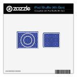 Modelo abstracto azul iPod shuffle 4G skins