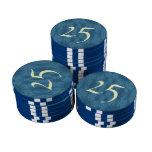 Modelo abstracto azul juego de fichas de póquer