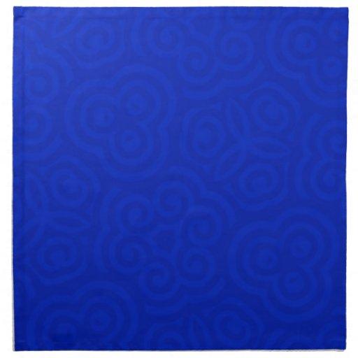 Modelo abstracto azul marino servilleta