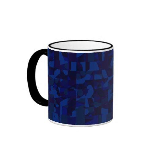 Modelo abstracto azul marino tazas de café