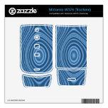 modelo abstracto azul motorola w376 calcomanías