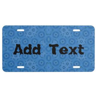 Modelo abstracto azul placa de matrícula