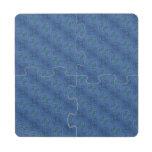 Modelo abstracto azul posavasos de puzzle