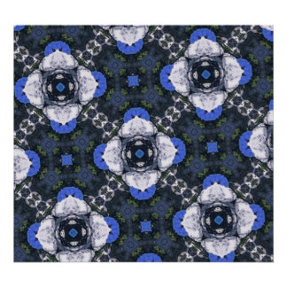 Modelo abstracto azul póster