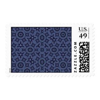 Modelo abstracto azul sellos