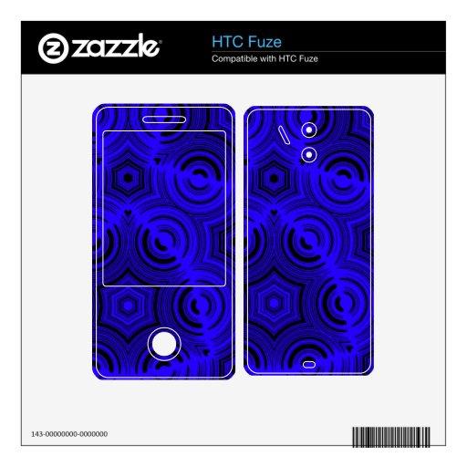 Modelo abstracto azul skins para elHTC fuze