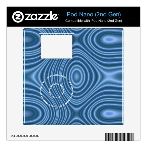 modelo abstracto azul skins para iPod nano
