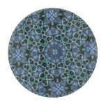 Modelo abstracto azul tablas para cortar