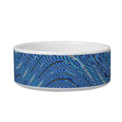 modelo abstracto azul tazón para agua para gatos