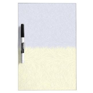 Modelo abstracto azul y amarillo tablero blanco