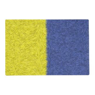 Modelo abstracto azul y amarillo salvamanteles