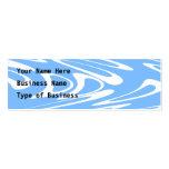 Modelo abstracto azul y blanco tarjetas de visita mini