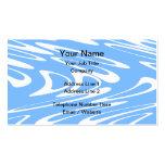 Modelo abstracto azul y blanco tarjetas de visita