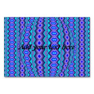 Modelo abstracto azulado