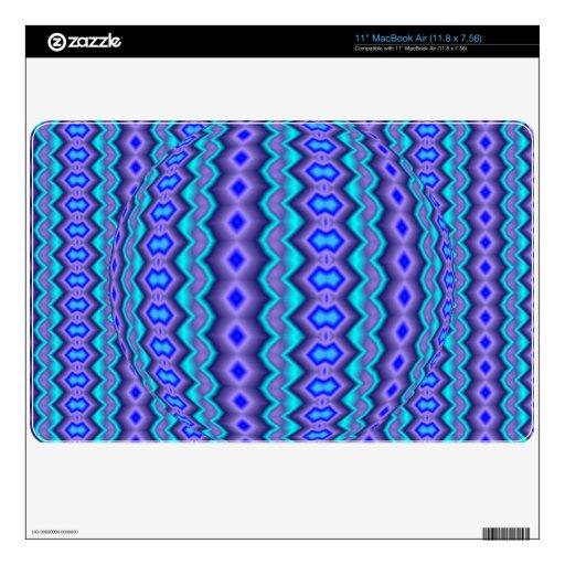 Modelo abstracto azulado calcomanías para el MacBook