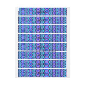 Modelo abstracto azulado pegatinas postales