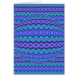 Modelo abstracto azulado tarjeta de felicitación