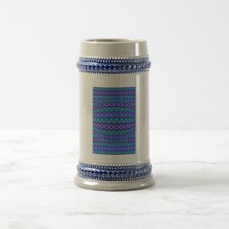 Modelo abstracto azulado jarra de cerveza