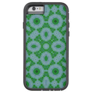Modelo abstracto azulverde funda para  iPhone 6 tough xtreme