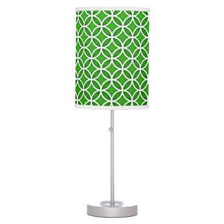 Modelo abstracto blanco verde de los círculos lámpara de mesilla de noche