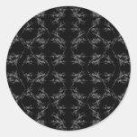 Modelo abstracto blanco y negro etiqueta redonda