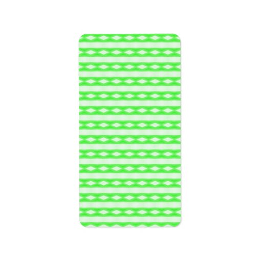 Modelo abstracto blanco y verde etiqueta de dirección