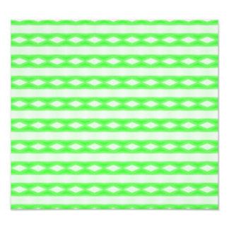 Modelo abstracto blanco y verde impresion fotografica