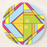 Modelo abstracto brillante x6 de las formas posavasos manualidades