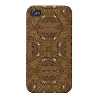 Modelo abstracto Brown iPhone 4 Coberturas