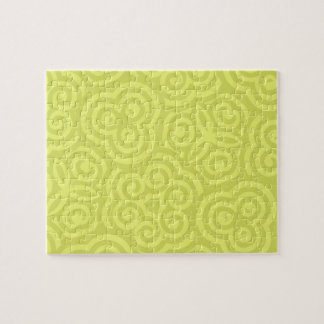 Modelo abstracto chartreuse puzzle