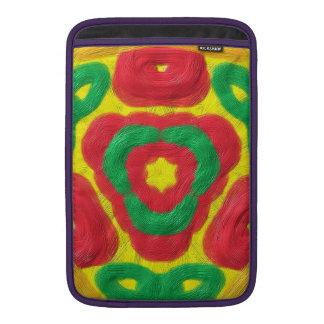 Modelo abstracto coloreado brillante fundas macbook air