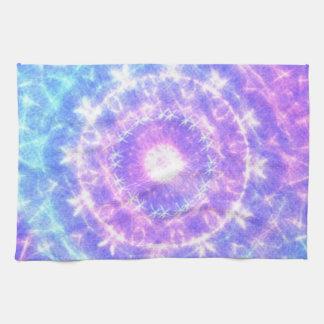 Modelo abstracto coloreado brillante toallas