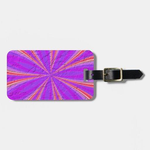 Modelo abstracto coloreado etiquetas bolsa