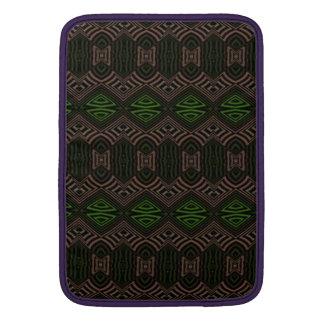 Modelo abstracto coloreado oscuridad funda para macbook air