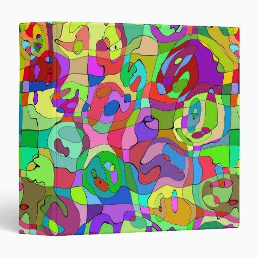 """modelo abstracto colorido 1,5"""" carpeta"""
