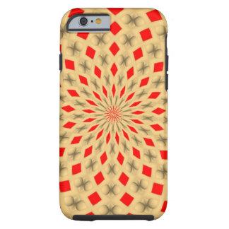 Modelo abstracto colorido agradable funda resistente iPhone 6